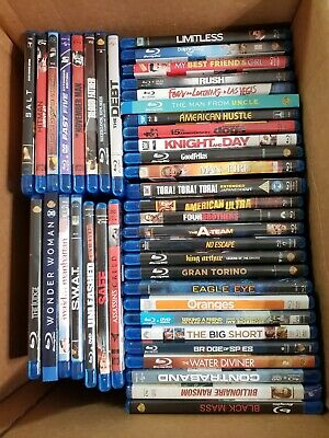 Lot of 42 Assorted Blu-ray Movies Collection action adventure comedy drama