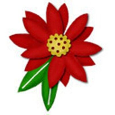 Bosskut - Poinsettia Christmas Flower metal die - for use in most cutting system