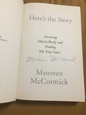 """Maureen McCormack Signed Book """"Here's The Story"""" """"Brady Bunch"""" Actress"""