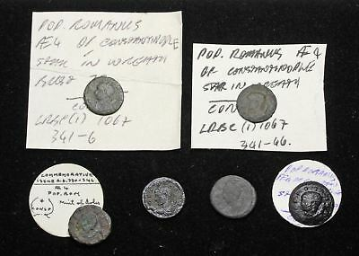 Lot Of 6, Pop Romanvs, Consi in Incoronazione, Introvabile City Commemorative,