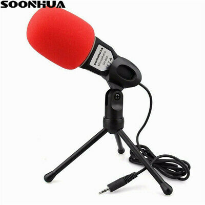 Professional Condenser Sound Podcast Studio Microphone For PC Laptop Skype