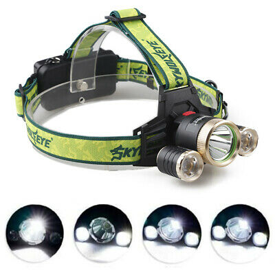 SKYWOLFEYE F526 Headlamp 9000Lm XML T6+ XPE 3 LED Rechargeable HeadLight Torch