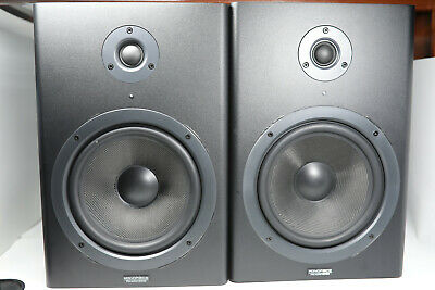 Monoprice 8-inch Powered Studio Monitor Speakers (pair) 8in 8 Inch Used