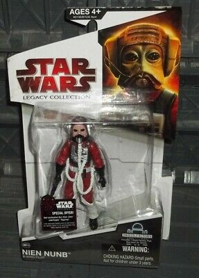 STAR WARS LEGACY COLLECTION RED CARD BD-19 ROTj B-WING PILOT NIEN NUMB FIGURE