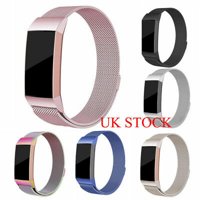 For Fitbit Charge 3 Strap Replacement Milanese Band Stainless Steel Magnet OS UK