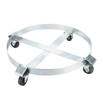 High Quality Drum Dolly 1000 lb w/ Swivel Casters Heavy Duty Steel Frame Non Tip