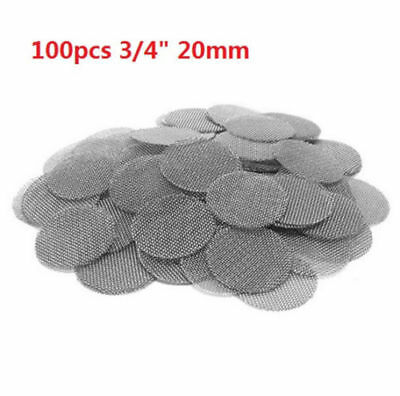 "100pcs 3/4"" 20mm Pipe Bowl Screens Stainless steel High Quality Tobacco Screen A"