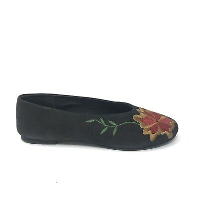 3afe71bab93587 Seychelles Womens Sz 8.5 Campfire Black Embroidered Slip On Flats Floral  Leather