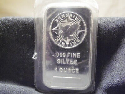 Sunshine Minting One Ounce .999 Fine Silver Bullion Bar~USA~Eagle Design