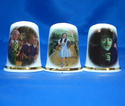 Birchcroft Porcelain China Thimbles - Set Of Three Wizard Of Oz Return