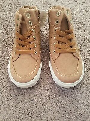 Old Navy Toddler Boys Perforated High-Tops Size 9 beige tan Color New