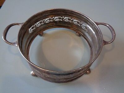 Large Vintage  Silver Plated Wine Cover  / Plant Cover Centre Piece Ep & Ns