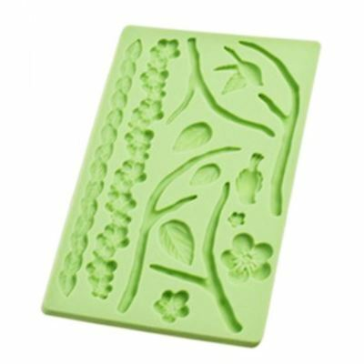 Sweet Creations - Silicone Fondant Mould Flora Green