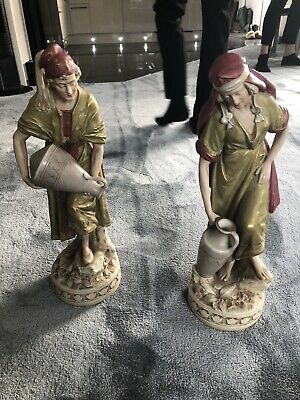 royal dux figurines Pair