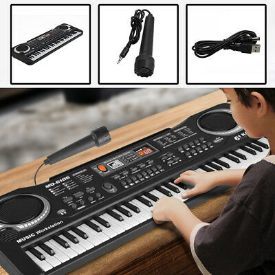 US 61 Keys Digital Music Electronic Keyboard Electric Piano Organ Instrument New
