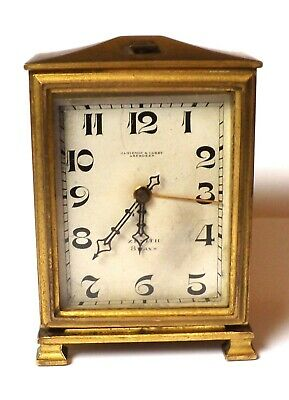 Antique Brass Carriage Clock Zenith 8 Days Jamieson & Carry Aberdeen -Swiss Made