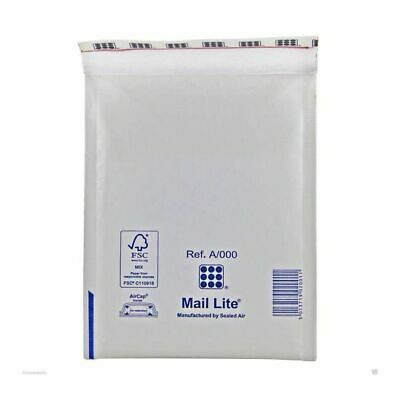 800X A/000 Mail Lite / Lites Padded Envelopes Mailing Bags White Job Lot