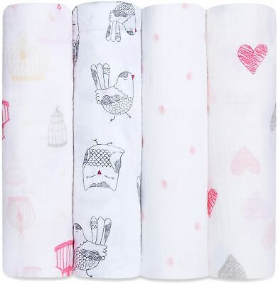 Aden + Anais CLASSIC SWADDLE - 4 PACK - LOVEBIRD Baby BNIP