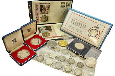 Coin Collection Silver Collectors Coins Tokens Thaler Crowns Shillings Plus More