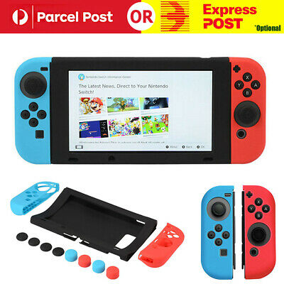 11 in 1 Silicone Case Cover + Joystick Cap For Nintendo Switch Console & Joy-Con