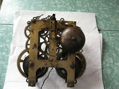 8 day gilbert vintage clock movement 1907 with hands