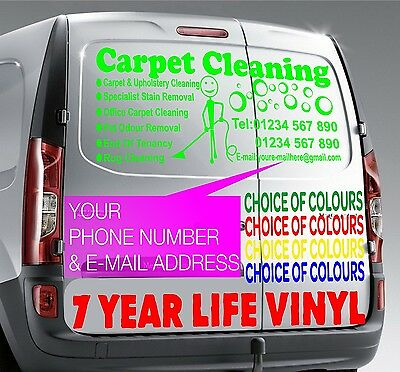 "40""x15"" Carpet Cleaning LIME Vehicle Sticker Sign Writing Vinyl Graphics Decal"