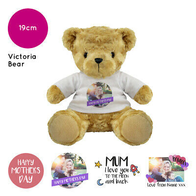 Personalised Name Photo Mothers Day Victoria Teddy Bear Presents Gifts for Mum