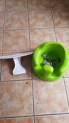 Rare lime lovely unisex bumbo with straps and play tray LOOK