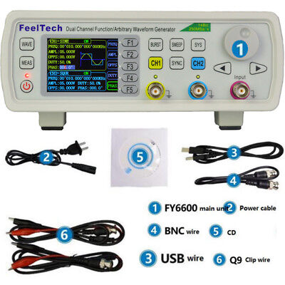 FY6600 60MHz DDS 20Vpp Dual Channel Function Waveform Signal Generator UK NEW