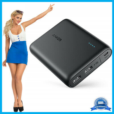 Anker PowerCore Externer Akku 13000mAh 2 Port 3A Powerbank für Android iPhone IQ