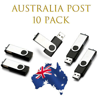AUS - 10 PACK USB 2.0 Flash Memory Stick Storage Drive U Disk Gift Wholesale
