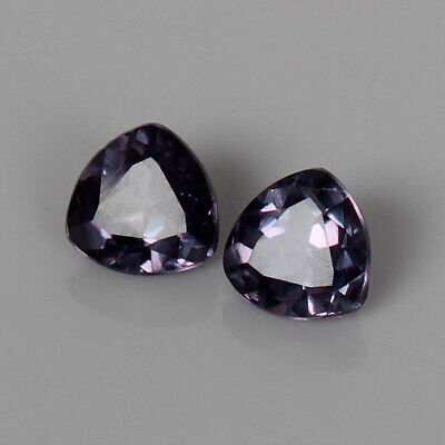 3.60 Ct Certified Natural Color Change In Sunlight Alexandrite Pair Loose Gems