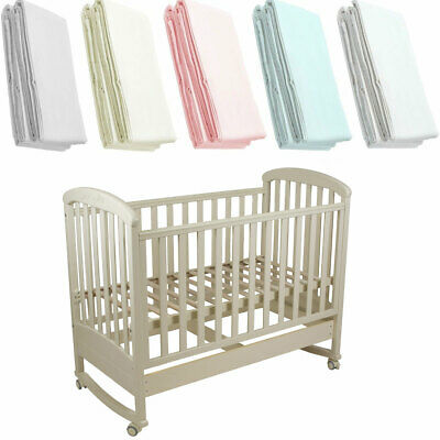 2x Crib Jersey Fitted Sheet 100% Cotton 40x90cm