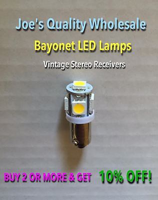 (3)BAYONET LED-LAMPS/6.3V WARM or COOL WHITE/KA-5500 6100 9100 5700 2002/KT KR