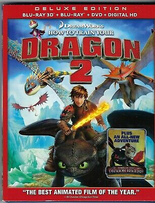How to Train Your Dragon 2 [3D Blu-Ray+blu-ray+dvd+digital HD] w/slipcover