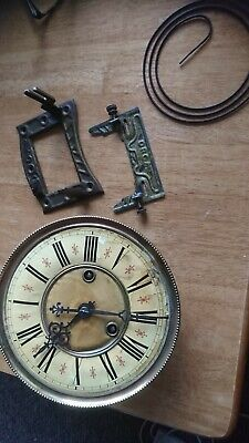 Vienna  Clock Movement working   restore or parts spares and frame