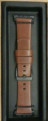 Nomad - Leather Watch Strap for Apple Watch 42mm - Brown with Black Lugs USED
