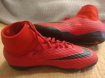 finest selection a8e39 c2407 NIKE HYPERVENOM X Phelon III DF IC Indoor Soccer Red 917768-616 Size 9.5