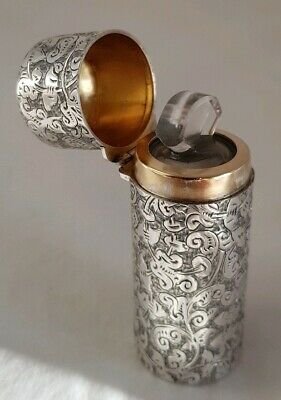 A Victorian sterling silver scent phile.London 1885 .By Thomas Johnson ll.