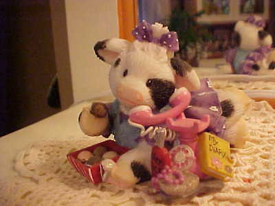 ❤Mary's Moo Moos ❤ GIRLS ARE INCREDI-BULL❤ ABBEY PRESS EXCLUSV COW❤NIB❤HTF