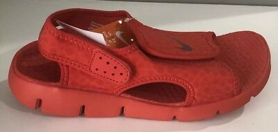 new product c2360 28800 Nike Sunray Adjust 4 GS YOUTH HABANERO RED WATER SANDAL Sz 3Y-5Y 386518 603