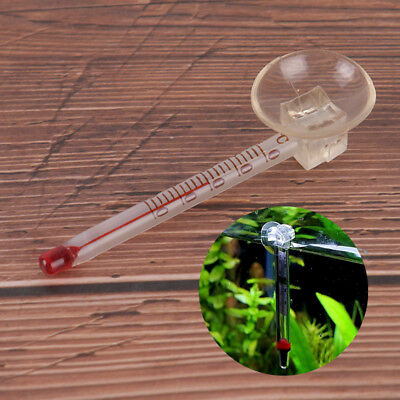 Glass meter aquarium fish tank water temperature thermometer suction cup GX