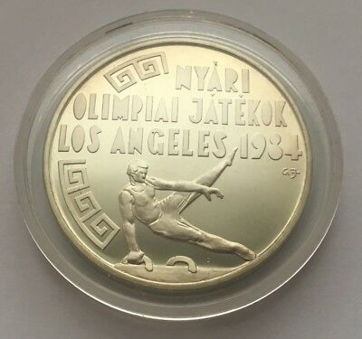 1984 Hungary Silver Proof 500 Forint Coin 1984 Los Angeles Olympic Commemorative
