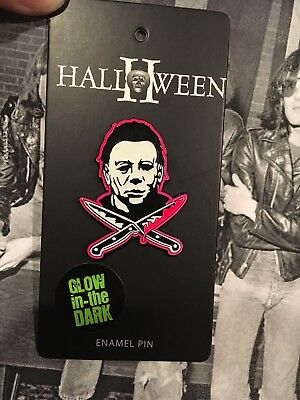 0a7963e3 Halloween Movie Enamel Pin NEW Universal Glow In The Dark Horror Michael  Myers