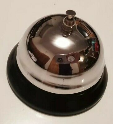 Service Bell - Chrome Plated - Gift Boxed Novelty Gift -  Office Home