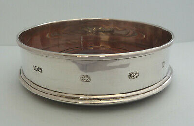 SOLID SILVER Decanter / WINE Coaster. London 2000. Whitehill Silver