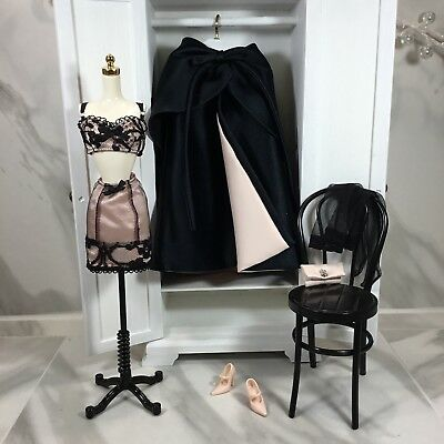 Silkstone Black & Pink Fashion Separates For Silkstone Barbie Doll, Dramatic!