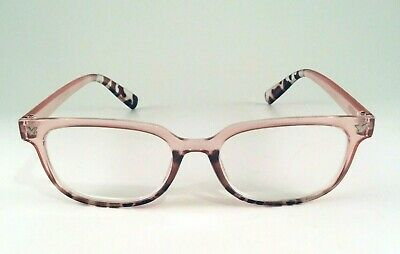 5b8271e797a7 Steve Madden Reading Glasses Retro Blush Pink w/leopard Trendy Readers +2.00