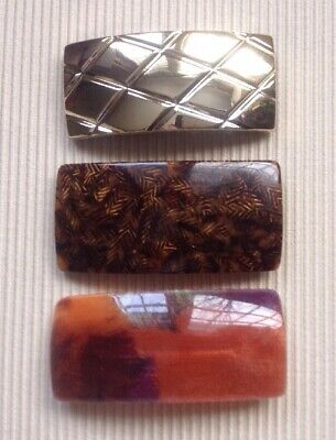 FRENCH Automatic Hair Clip ~ Barrette ~ FRANCE ~ LOT of 3 ~ NEW!