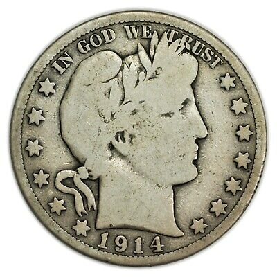 1914-S Barber Half Dollar, Large, Early Type, Silver Coin [4086.14]